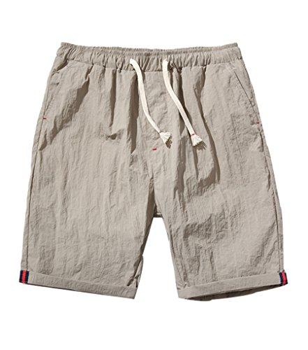 NiSeng Homme Eté Casual Grandes Tailles Slim Séchage rapide Shorts De Bain Boardshorts Plage Swim Surf Shorts Maillot De Bain Kaki