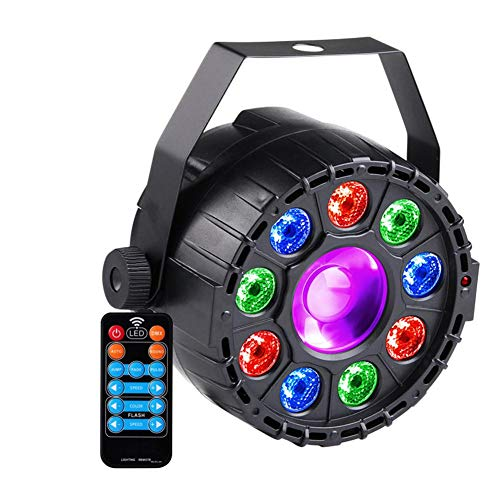 Inciple LED Mini 9 + 1 Par Licht RGB + UV Monochrome Bühne Disco Licht Bunte Lampe für Bar Club PartyLight Quelle: RGB LED