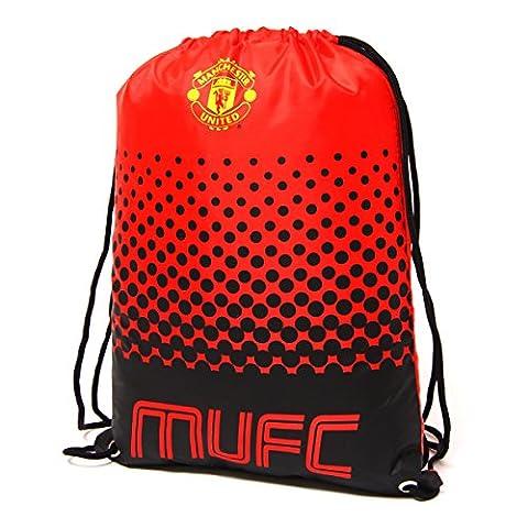 Beutel, Tasche, Turnbeutel mit Kordelzug, Fußball Team, schwimmen (verschiedene Vereine zur Auswahl), Manchester United FC, 45 x 34cm