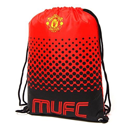 Manchester United-fan Gear (Beutel, Tasche, Turnbeutel mit Kordelzug, Fußball Team, schwimmen (verschiedene Vereine zur Auswahl), Manchester United FC, 45 x 34cm)