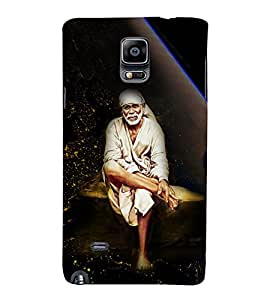 Shirdi Sai Baba 3D Hard Polycarbonate Designer Back Case Cover for Samsung Galaxy Note 4 N910 :: Samsung Galaxy Note 4 Duos N9100
