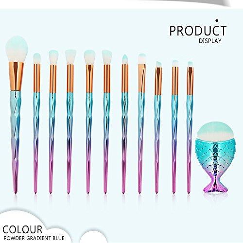 Daysing Make Up Pinsel Set 12 Stücke professionelles Kosmetikpinsel Pinselset Schminkpinsel lidschattenpinsel augen und wangen pinsel beauty tools