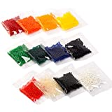 eBoot 12 Farben Wasser Perlen Wasserperlen Gelperlen Aquaperlen Vaseenfüller für Hochzeit und Möbel Dekoration, 12 Stück