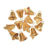 #9: AsianHobbyCrafts Golden Metal Bells: Size 2.5cm: Pack 25 Pcs: Used for HobbyCrafts and other Craft Works.