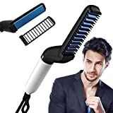 ZIZLY Men Quick Beard Straightener Hair Comb Multi-functional Hair Curler Show Cap Tool