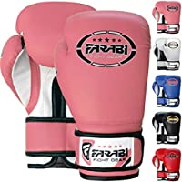 FARABI 8oz Junior Boxing Gloves Kids Boxing Gloves 8-oz Boxing Gloves Sparring, Training Bag Mitt Gloves for Punching, Sparring, Workout, Training (8-OZ, Pink)