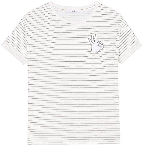 FIND Damen T-Shirt mit Logo Weiß (White)