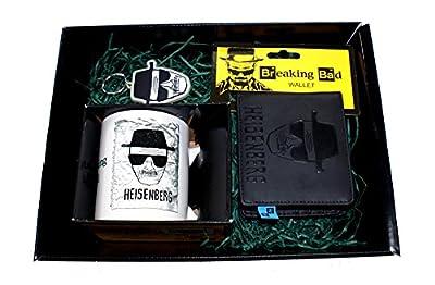 Breaking Bad–Heisenberg–Panier cadeau contenant Portefeuille en cuir, Tasse et porte-clés
