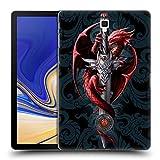 Head Case Designs Ufficiale Anne Stokes Coltello Dragoni Cover Retro Rigida per Samsung Galaxy Tab S4 10.5 (2018)