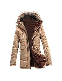 SODIAL (R) Hombre Nueva invierno de calido anorak de vellon acorazado zanja Bolso de viaje abrigo chaqueta MFb13 Caqui - XL