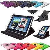 360 ° Note 10.1 Design Standtasche Samsung Galaxy N8000 N8010 N8020 Hülle Schutz Etui Tasche Case Cover (Schwarz)