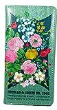 Shagwear Junge-Damen Geldbörse, Large Purse Designs: (Bunte Blüten Helltürkis/Seed Packet)