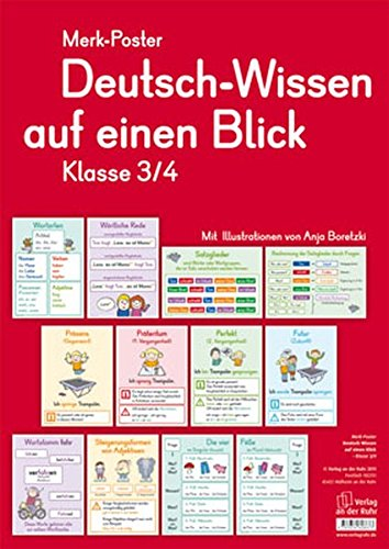 (Merk-Poster - Klasse 3/4 - Deutsch-Wissen auf einen Blick)