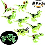 ROSENICE Dinosaur Toys 8pcs Mini Dinosaur Model Dinosaur Minifigures Movable Toy