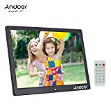 Andoer Digital Photo Frame 15.6 Inch LED 1920*1080 High Resolution 1080P Display Photo/MP3/ MP4/ E-book/ Clock/ Calendar Funtion, Support USB disk/SD/MMC/MS card, with Remote Control