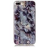 SecondDromi Coole Marmor Muster Silikon hülle für iPhone 8 (4,7