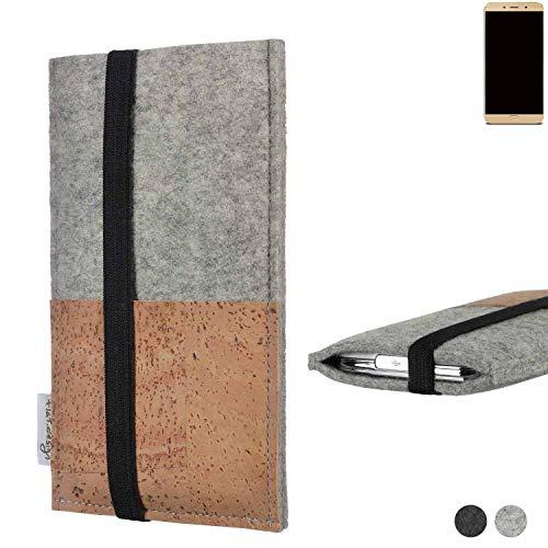 flat.design Handy Hülle Sintra für Allview X4 Soul Lite Handytasche Filz Tasche Schutz Kartenfach Case Kork