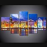 YIMENGSX Impreso en HD Suecia Estocolmo Pintura de la Lona Impresión de la habitación decoración póster Imagen Lienzo/ny-2138, con Marco, Tamaño 2