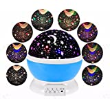 Egab Night Lamp for Kids Bedroom Star Moon Projection Lamp