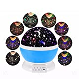 #3: Egab Night Lamp for Kids Bedroom Star Moon Projection Lamp