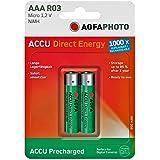 AgfaPhoto Direct Energy - Batería/Pila recargable (950 mAh, Níquel-Hidruro metálico (NiMH), 1.2 V, AAA) Verde