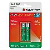 AgfaPhoto Akku NiMh Micro AAA 950 mAh Direct Energy (2 Stück)