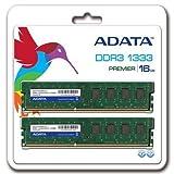 ADATA DDR3 U-DIMM 16GB módulo de - Memoria (16 GB, 2 x 8 GB, DDR3, 1333 MHz, 240-pin DIMM)
