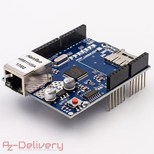 AZDelivery ⭐⭐⭐⭐⭐ SIM 900 GPRS/GSM Shield + módulo GPS + SIM 808 + Ethernet Shield con libro electrónico gratuito. Ethernet Shield