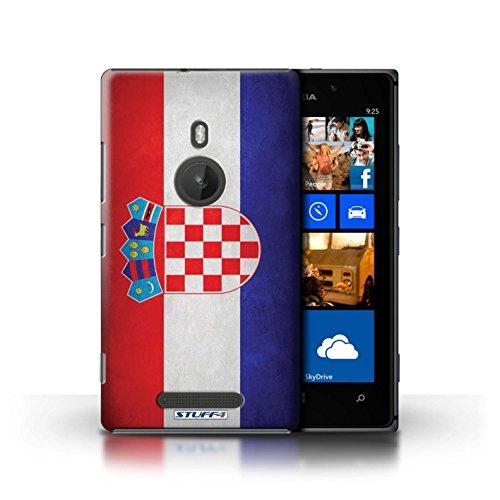 Kobalt® Imprimé Etui / Coque pour Nokia Lumia 925 / Royaume-Uni/Britannique conception / Série Drapeau Croatie