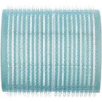 Efalock - Bigodini in velcro, 54 mm, 2 confezione da 6 pz, colore: azzurro