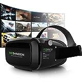 3D VR Gafas,3D VR Casco Realidad Virtual Ajustable 3D y Juegos de Vídeo Compatible con iPhone 7/6S/6 Plus/6/5S/5 C/5,Samsung Galaxy S5/S6/Note4/Note5,Otros 3.5-6.0 Pulgada Teléfonos Inteligentes V01