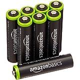 AmazonBasics Lot de 8 piles rechargeables Ni-MH Type AAA 1000 cycles à 800 mAh/minimum 750 mAh 1,2 V (design variable)