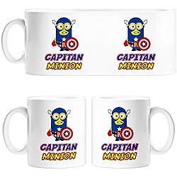 Taza Capitán América Minion - Cerámica