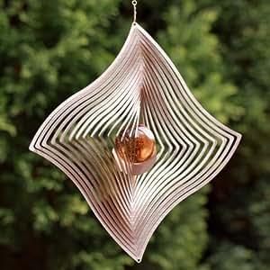 edelstahl metall windspiel windfahne mit 35 mm glaskugel farben nach wunsch absolut. Black Bedroom Furniture Sets. Home Design Ideas