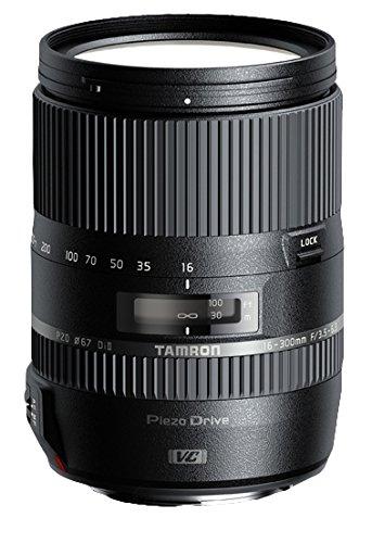 Tamron 16-300mm F/3.5-6.3 Di II VC PZD SLR Macro Objektiv schwarz - Linsen und Kameras (SLR, 12/16, 0,39m, 3,5-40, Auto/Manuell) - Tamron Auto