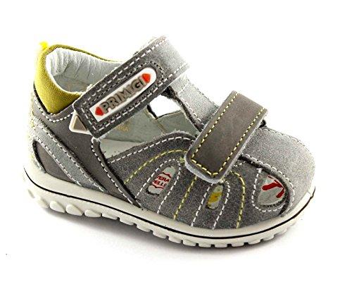 PRIMIGI 55521 grigio scarpe sandali bambino tallone strappi punta chiusa 25