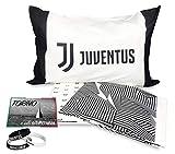 tex family Completo Lenzuolo 1 Piazza Singolo Juve Originale F.C. Juventus con Braccialetto e Cartolina in Omaggio