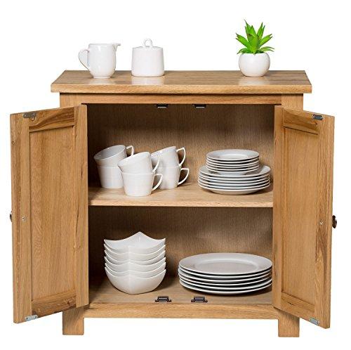 27bc12d1af Hallowood Waverly Small Storage Cabinet in Light Oak Finish | Solid Wooden  Filing Unit Shoe Organiser Bathroom Cupboard, ((WAV-CUP700)