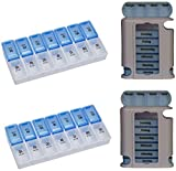 4er Set Tablettenbox Pillenbox Pillendose Tablettenturm Medikamentendosierer Wochendosierer 7 Tage