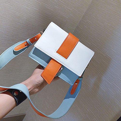 schlagen Sie farbendame Schulter kurierbeutelart und Weise kleiner quadratischer Beutel Blau