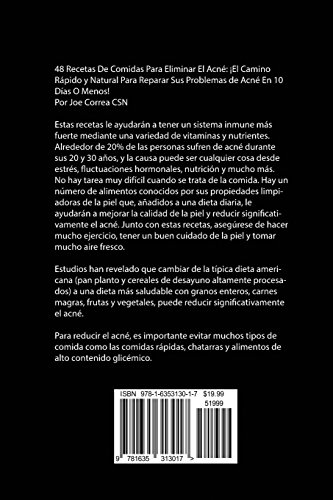 48 Recetas De Comidas Para Eliminar El Acné: ¡El Camino Rápido y Natural Para Reparar Sus Problemas de Acné En 10 Días O Menos!