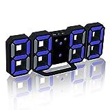 EAAGD Réveil Digital à LED Possible à Régulariser la Luminance (Black/Blue)...