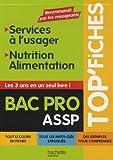 Top'Fiches BAC PRO ASSP Services à l'usager, Nutrition-Alimentation