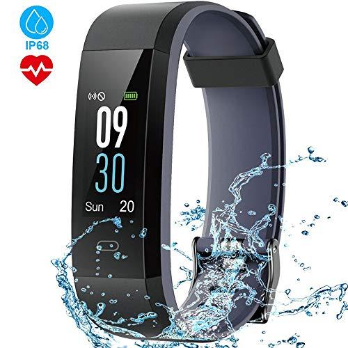 HOMSCAM Fitness Tracker Orologio Smartwatch Cardiofrequenzimetro da Polso Schermo a Colori Impermeabile IP68 Braccialetto Fitness Donna Uomo Smart Watch per Samsung Huawei Android iOS Smartphone