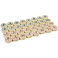 Quantum Abacus Premium Xiangqi: Professionelle, schwere Spielsteine für Chinesisches Schach / Xiangqi, aus hochwertigem Melaminharz, Größe M: 4cm Durchmesser, 1,2kg, Mod. CL-158