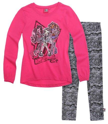 Monster High Tunica mit Leggings schwarz (164)