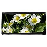 Portemonnaie Geldbörse Brieftasche // M00238284 Strawberry Blumen Erdbeerpflanze // Large Size Wallet