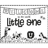 Rayher Hobby 29122000 Holzstempel Welcome Little One, 10 x 8 cm, Text mit Aussagekraft, zum Gestalten von Karten u.v.m., Butterer Schrift-Stempel