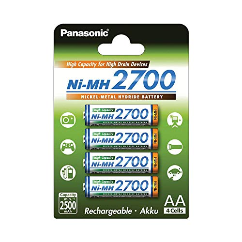 Pilas Panasonic Recargables doble AA