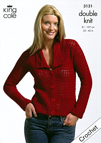 King Cole Damen Jacke & Top Bambus Baumwolle DK Häkelmuster 3131 (3131 Top)